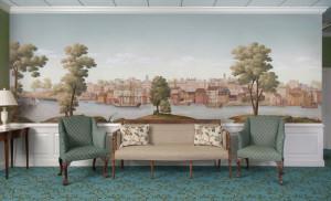 Панорамные обои в дизайне интерьера спальни