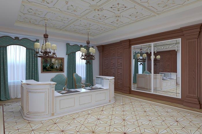 Дизайн-проект приемной председателя областного суда