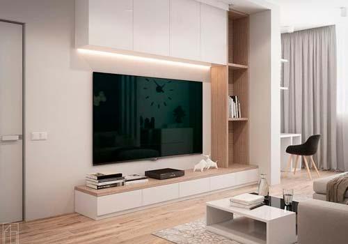 Дизайн ТВ зоны: способы организации пространства