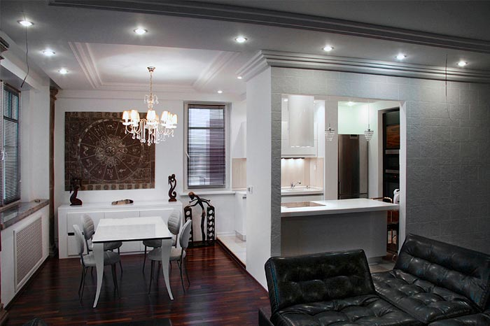 Дизайн гостиной с элементами Азиатского стиля