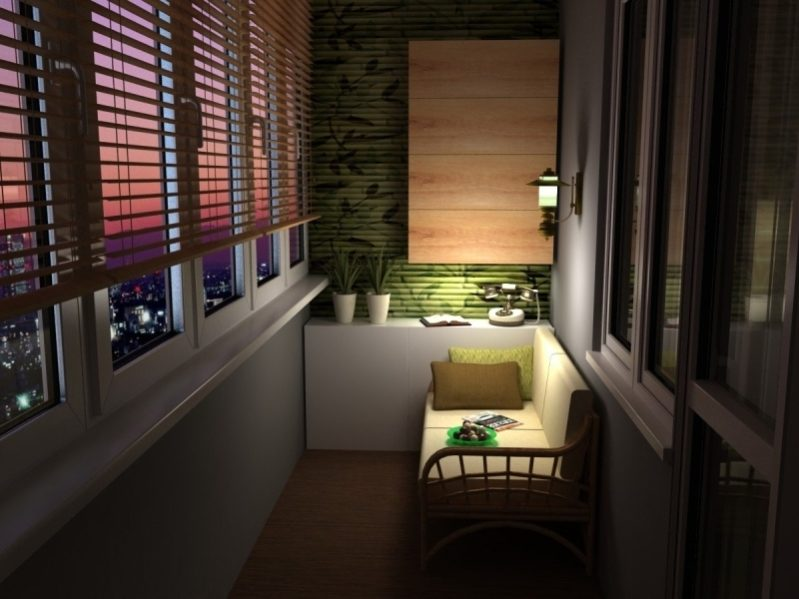 Удачные решения для обустройства обычного балкона или лоджии
