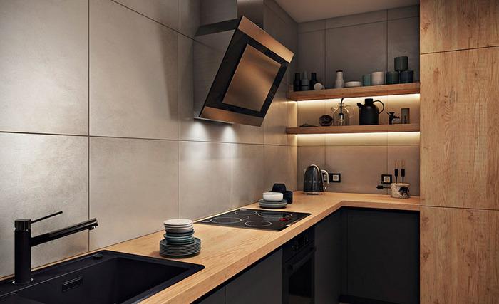 Кухня без верхних шкафов: удобство или капризы дизайнера?