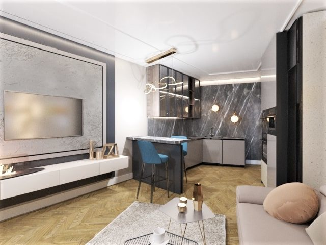Квартира в неоклассическом стиле