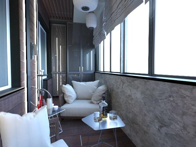 Лаунж-зона в городской квартире